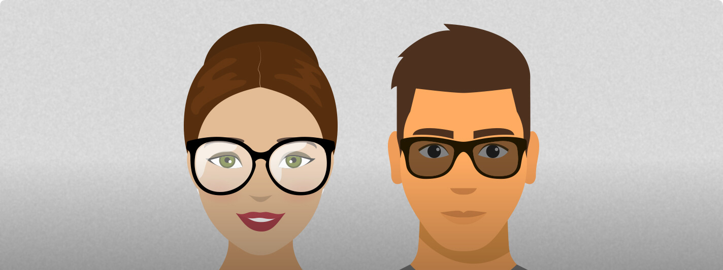Face shape that complements oval glass frames