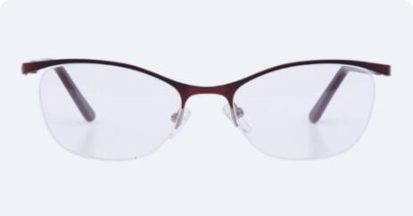 Half rim x blue lenses