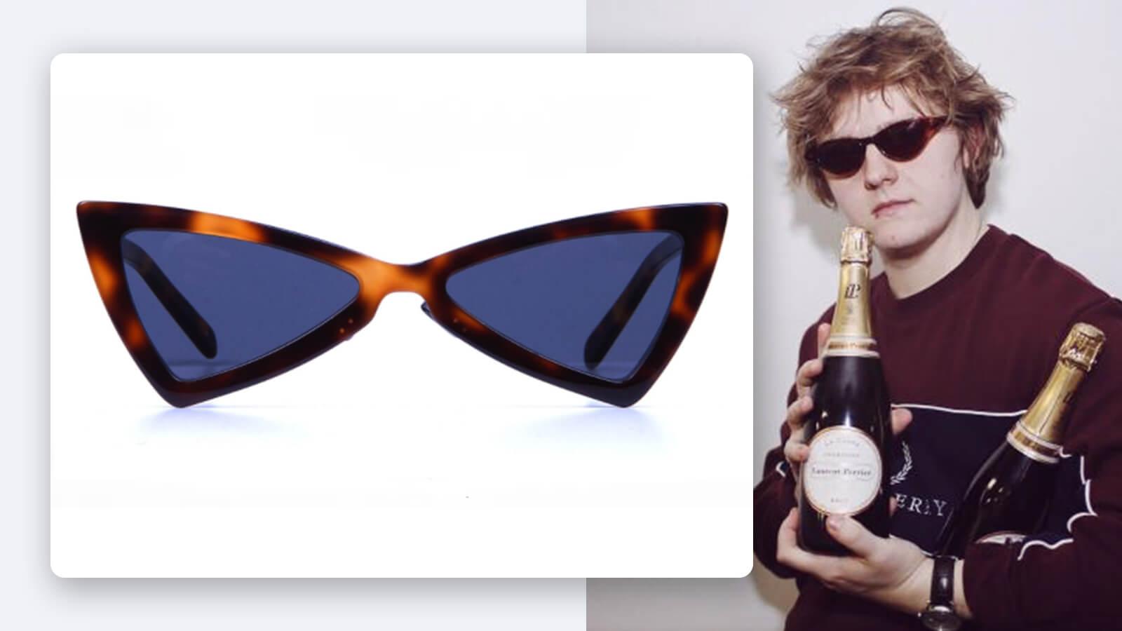 Browner and Shinier: Lewis Capaldi Brown Tortoiseshell sunglasses