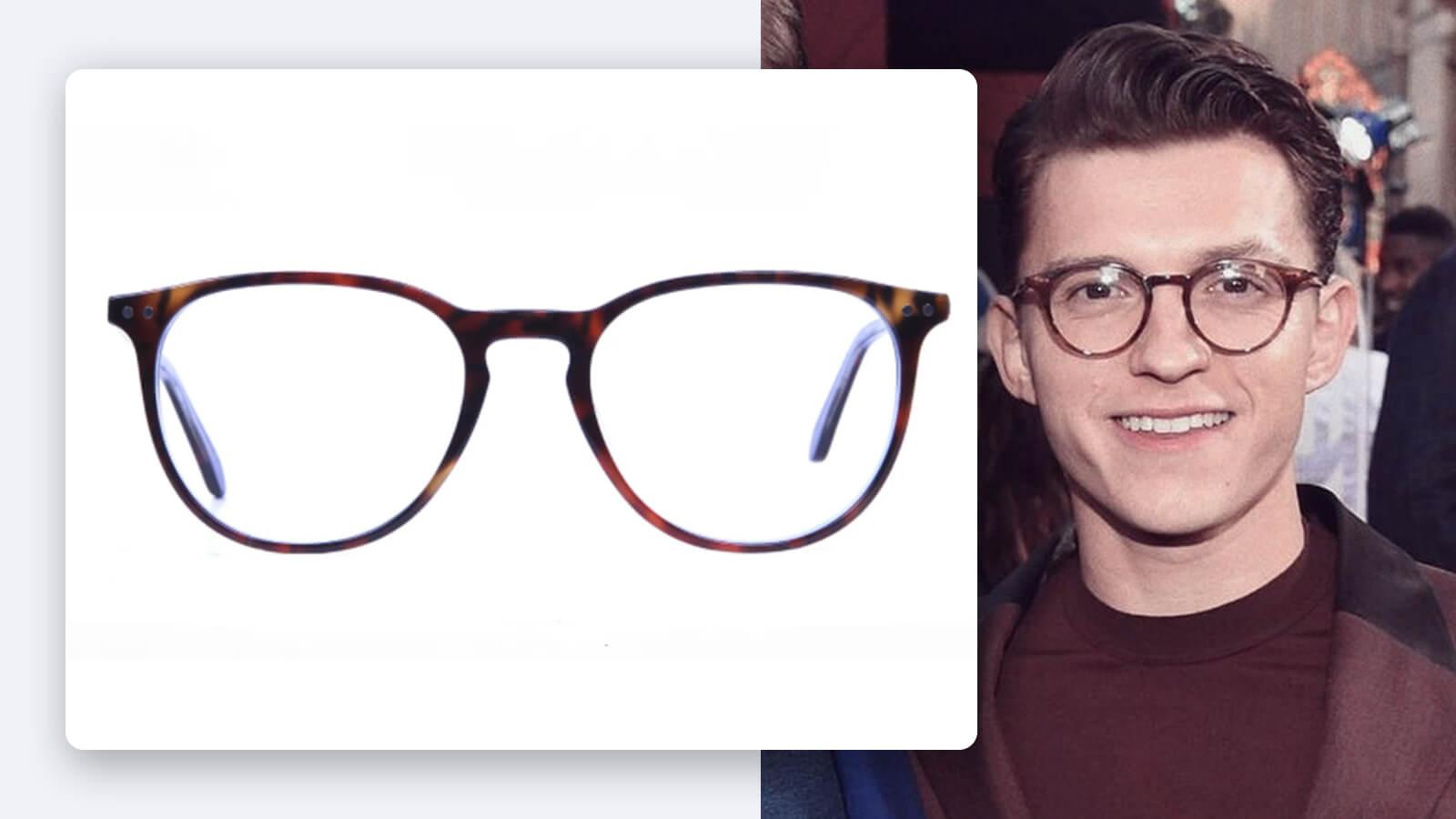 Tom holland deep brown glasses