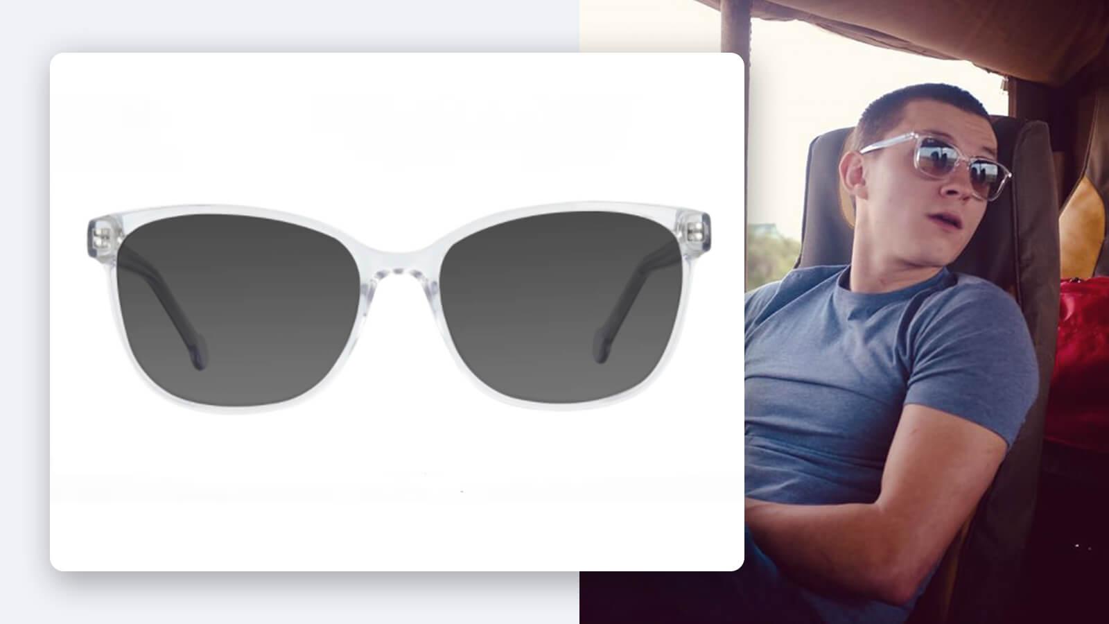 Tom Holland Clear Frame Sunglasses