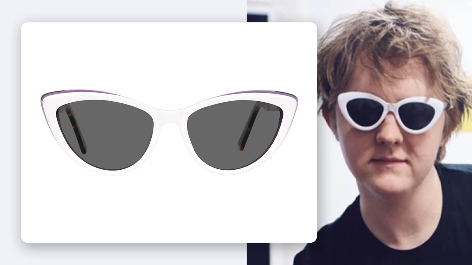 Lewis Capaldi Cat Eye Sunglasses