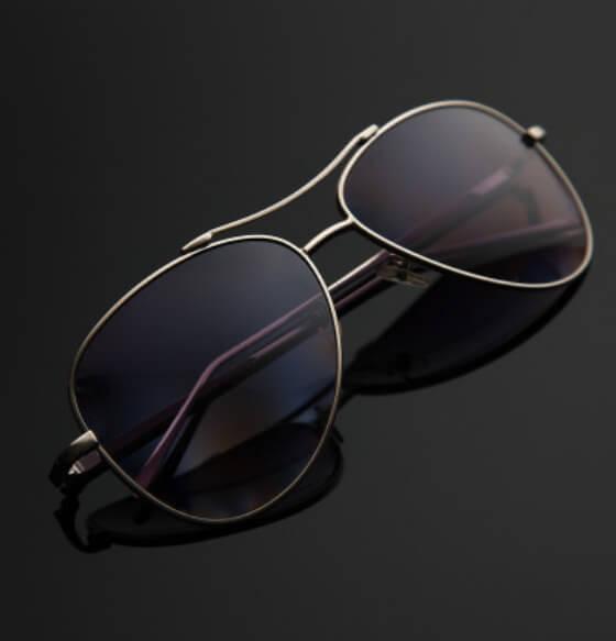 Mirrored polarised sunglasses