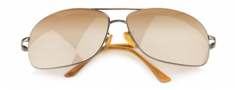 Mirrored sunglasses work