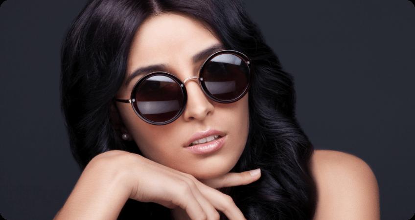 Round Black Sunglasses style