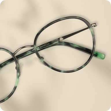 Round mixed material glasses