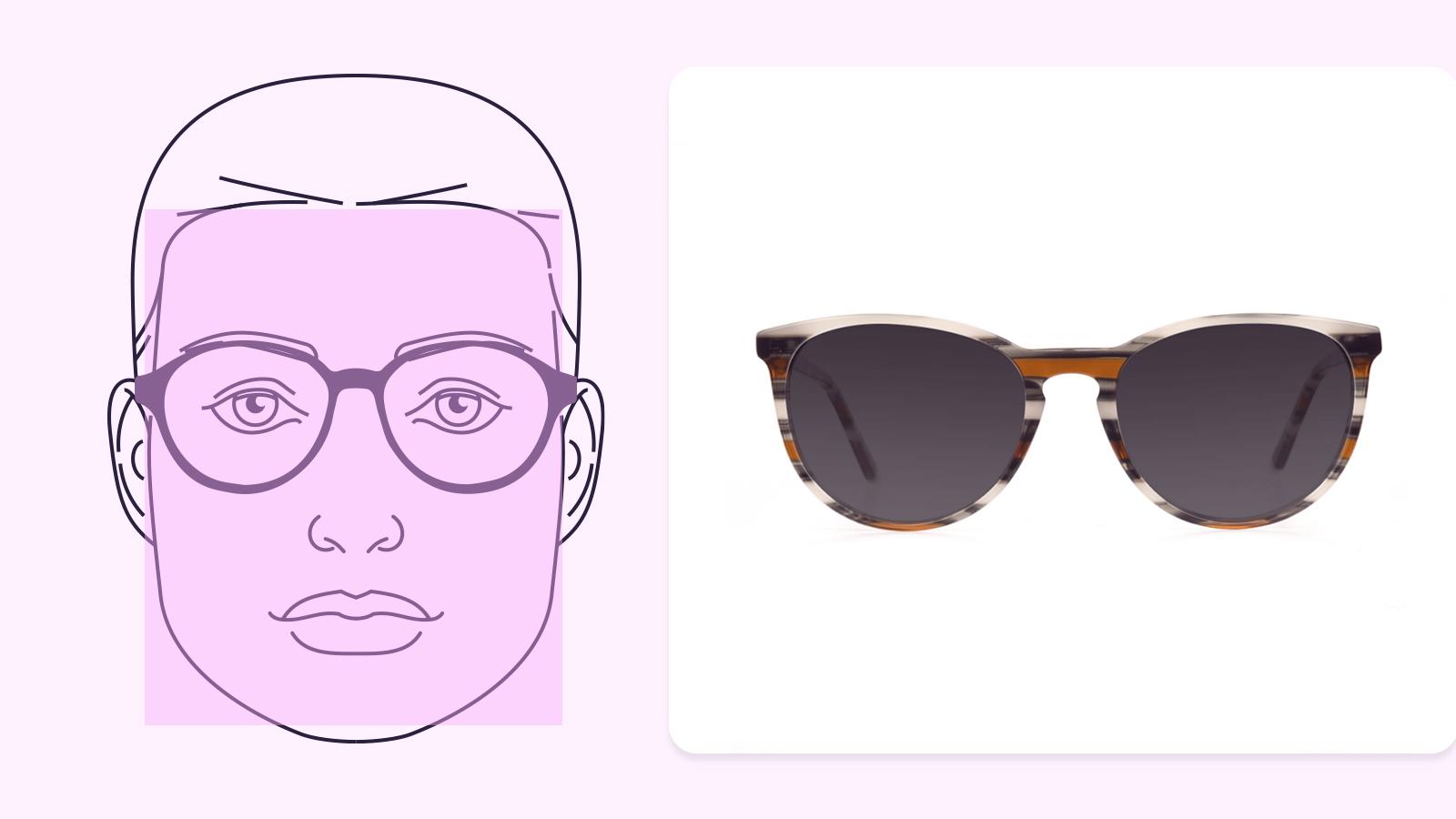 Sunglasses for square face shape
