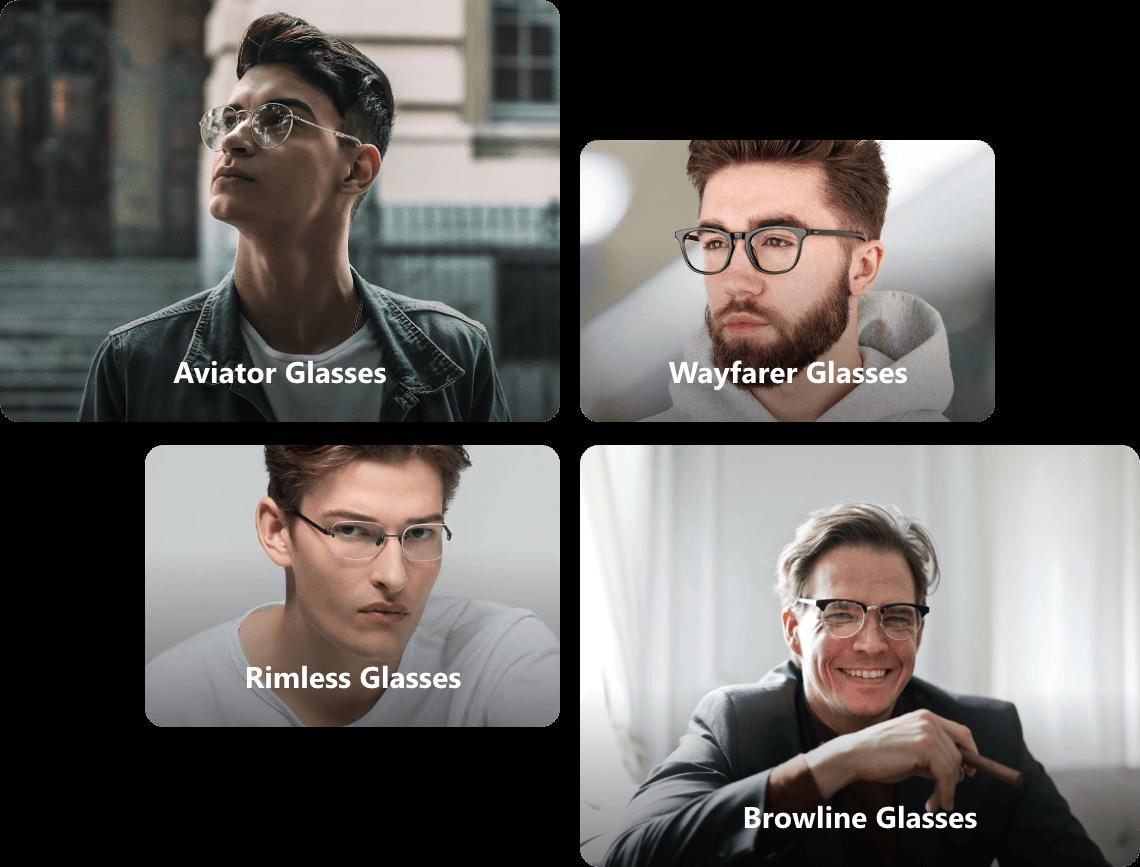 Square glasses for men