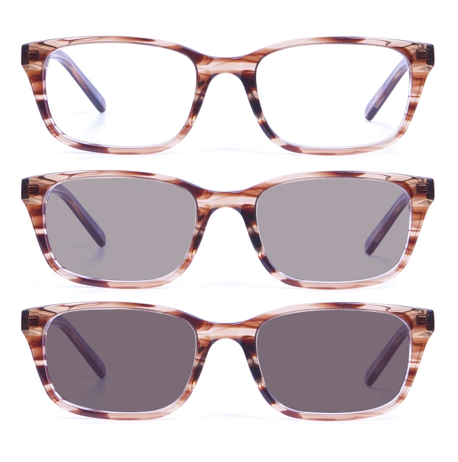 Non Prescription Mens Glasses Frames With PHOTOCHROMIC Lenses TRANSITIONS