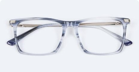 Wayfarer x blue lenses