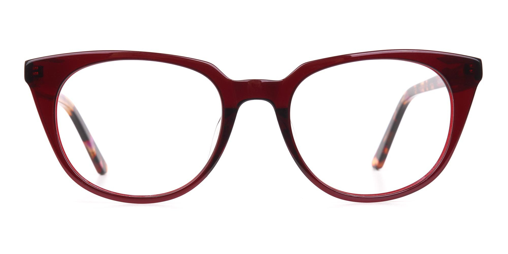 Dark Cherry Cat-eye glasses
