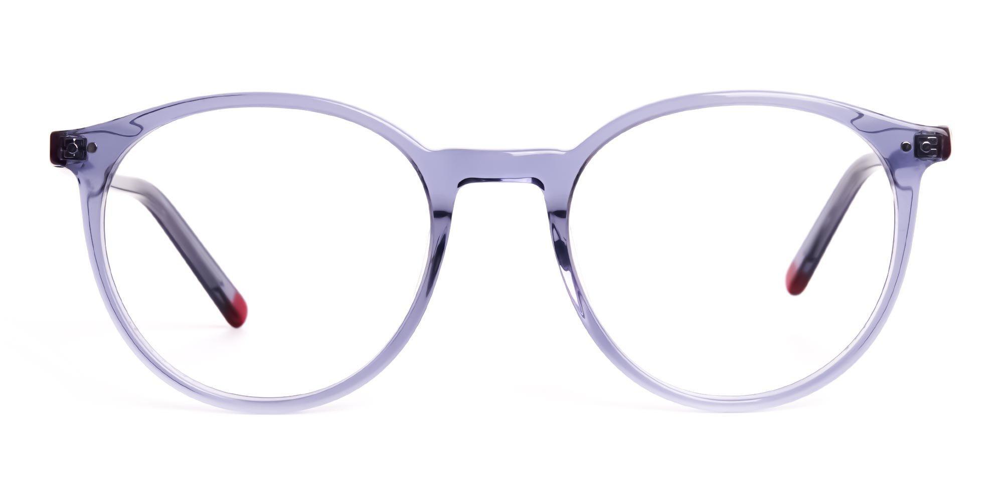 Crystal Grey Round Frames