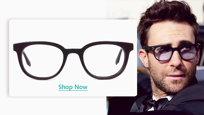 black pair of vintage horn rimmed glasses