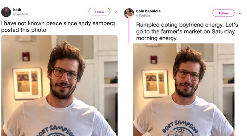 Andy Samberg Tweet