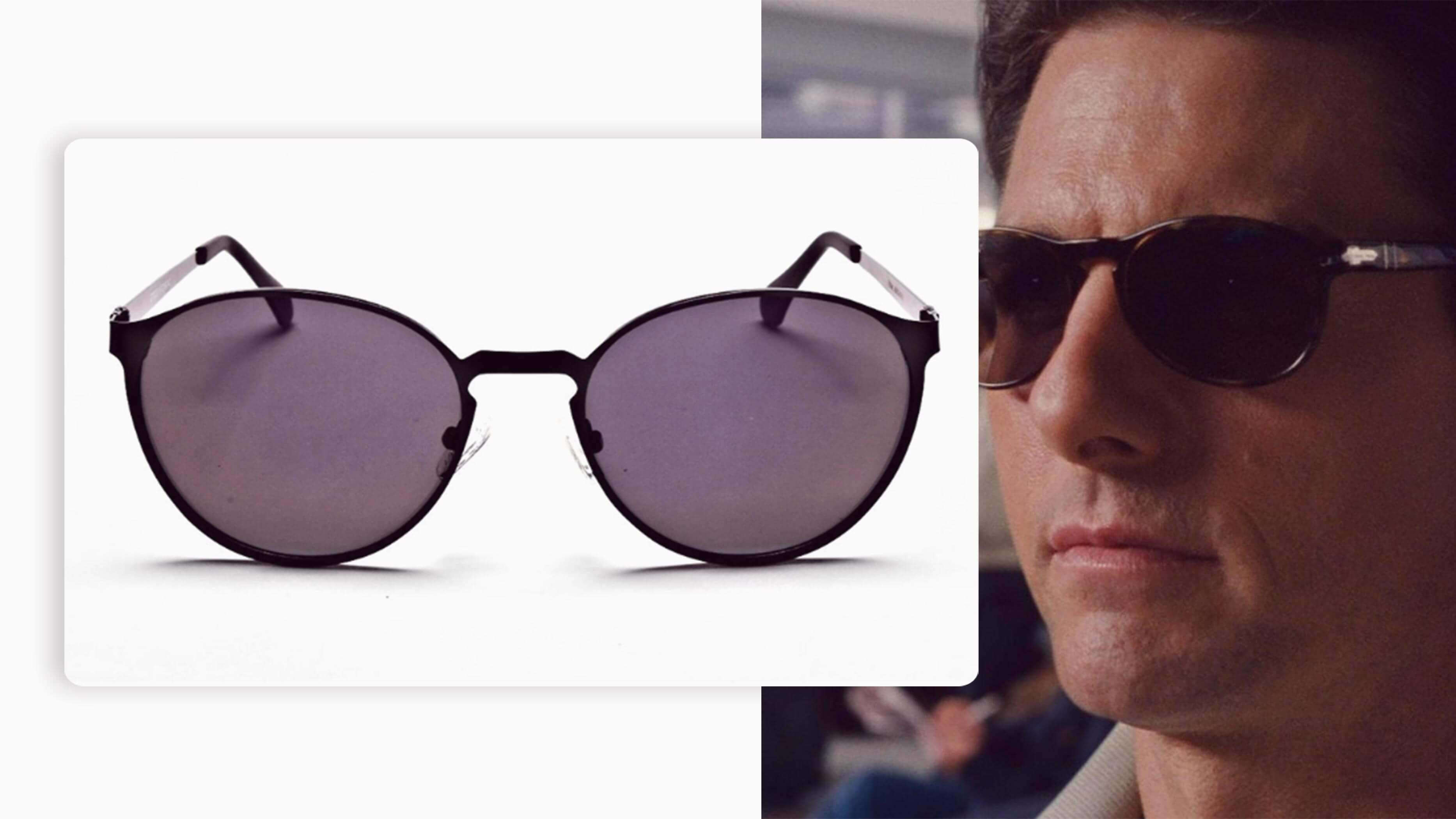 black full-rimmed pair of sunglasses