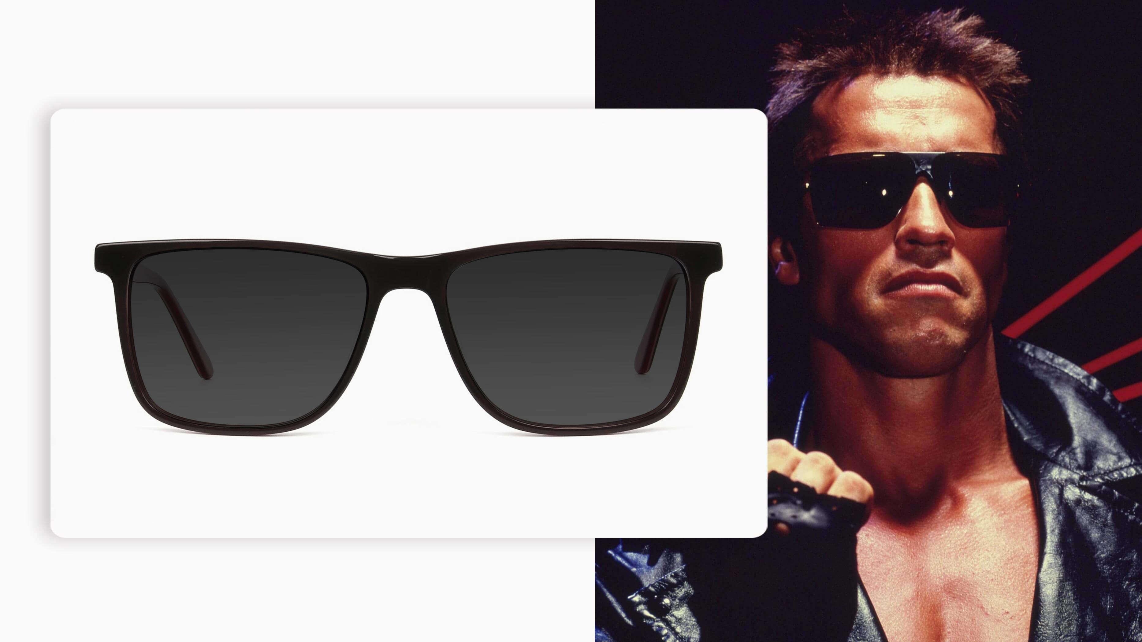 black grey wayfarer pair of sunglasses