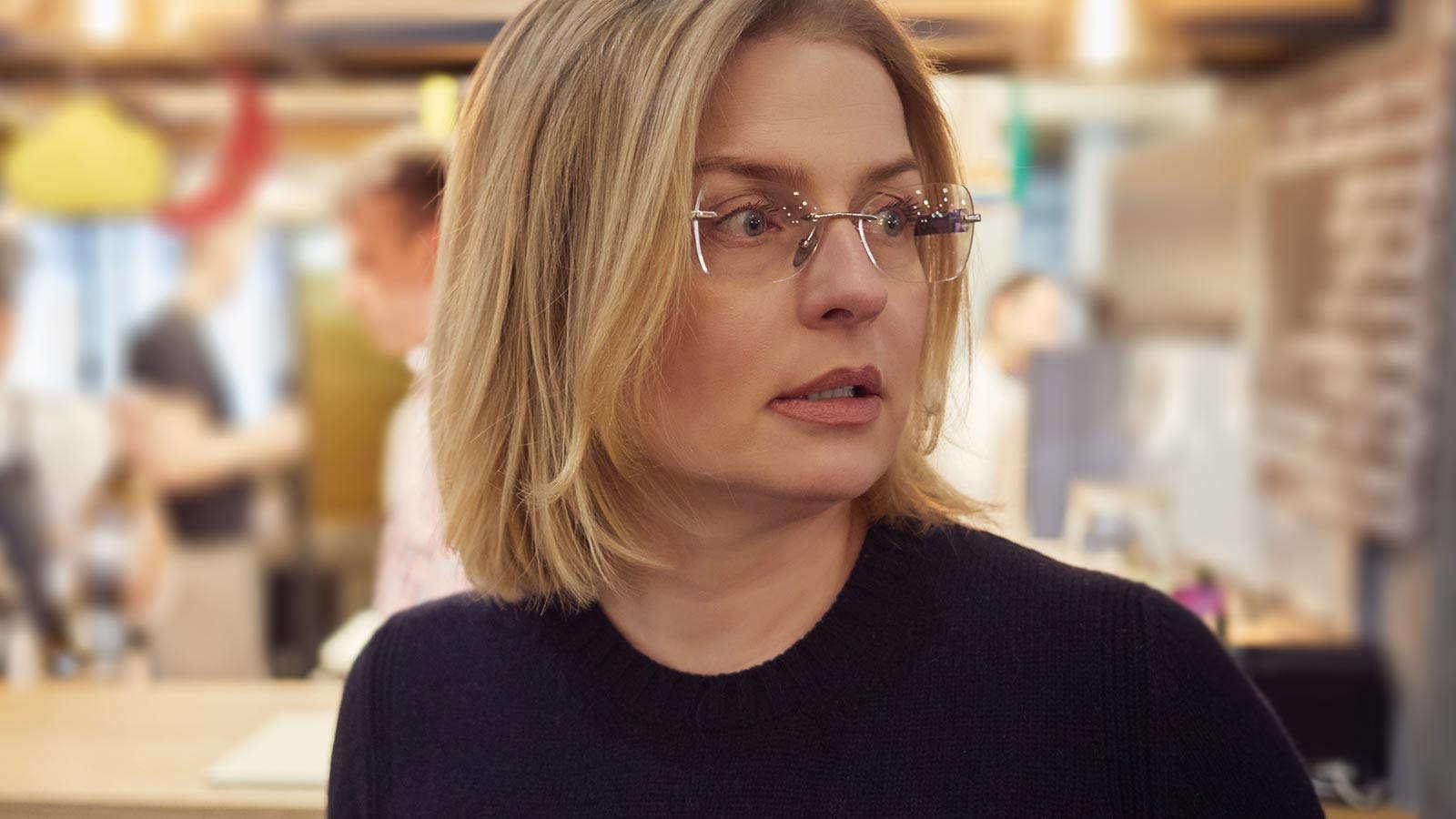 Designer rimless glasses in the UK