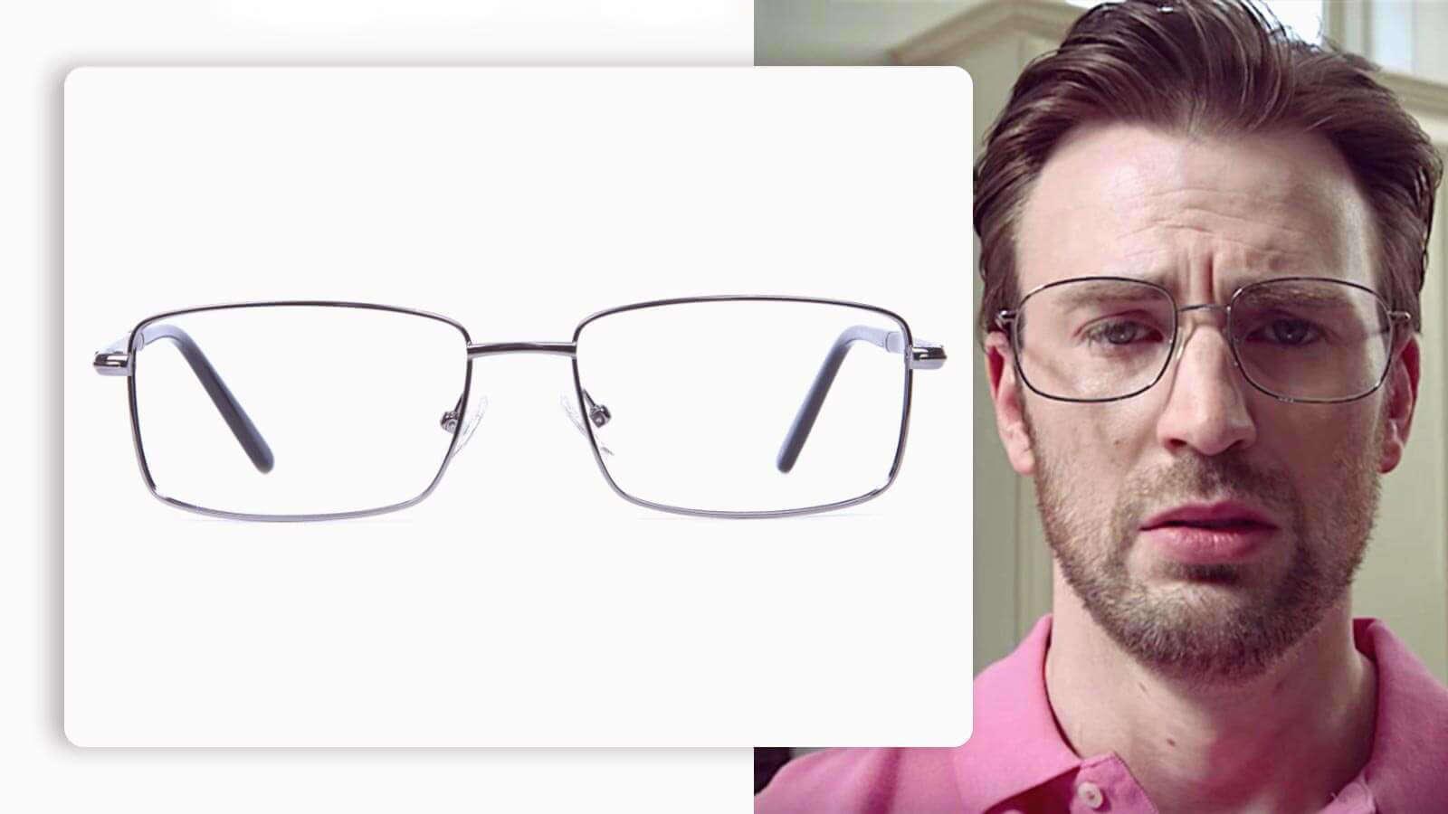 luxury glasses in gunmetal and rectangular