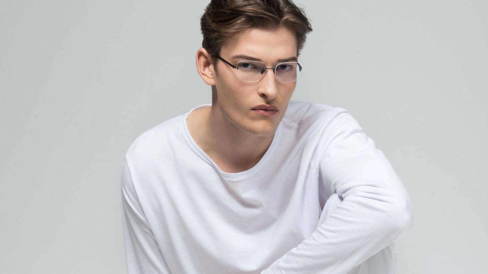Mens rimless glasses