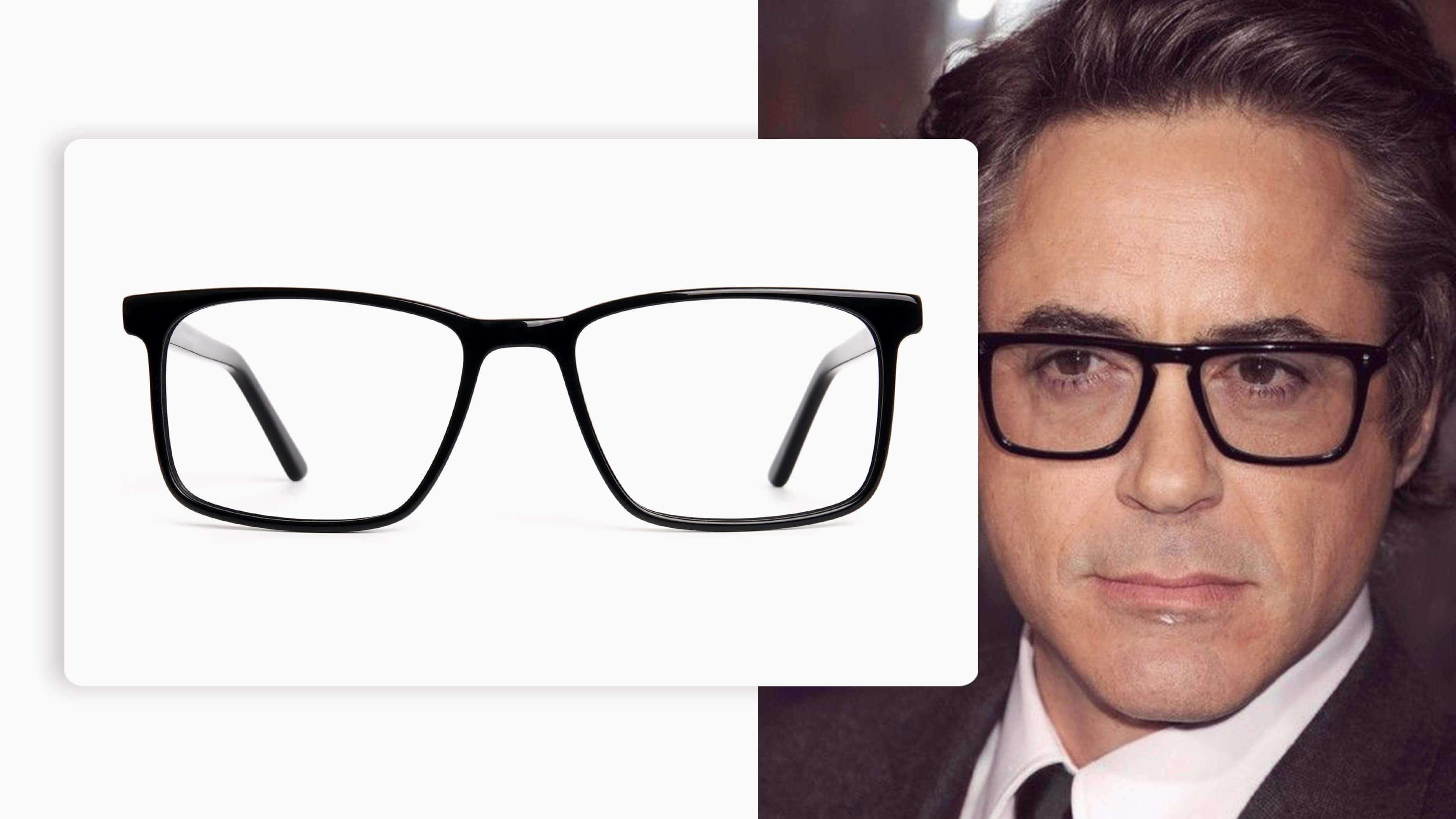 Designer Black Glasses in Rectangular
