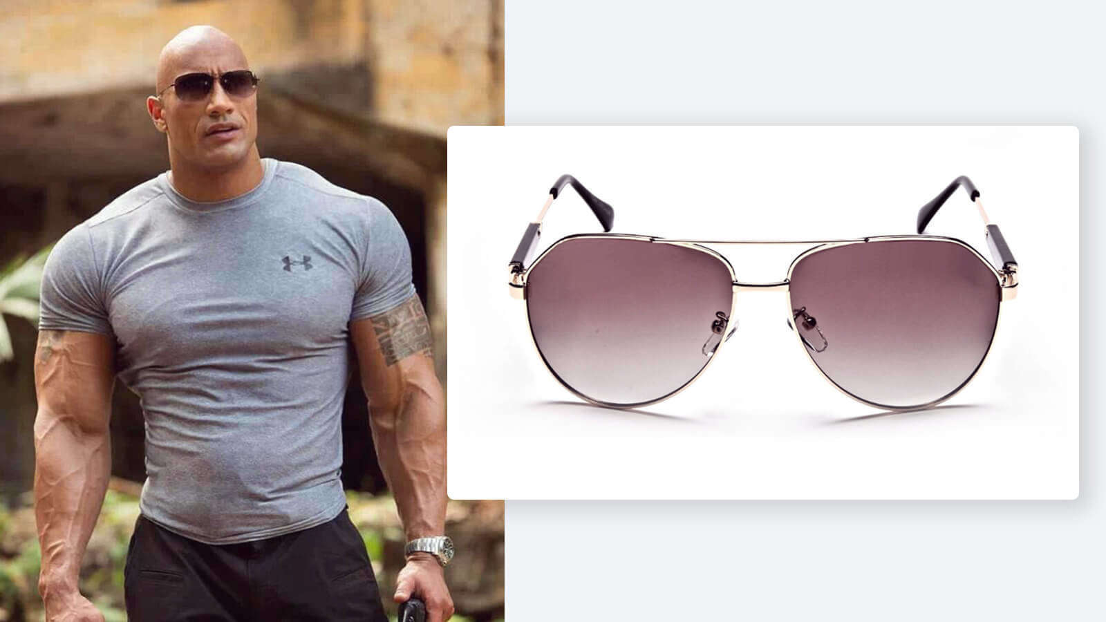 Brown and gold aviator sunglasses
