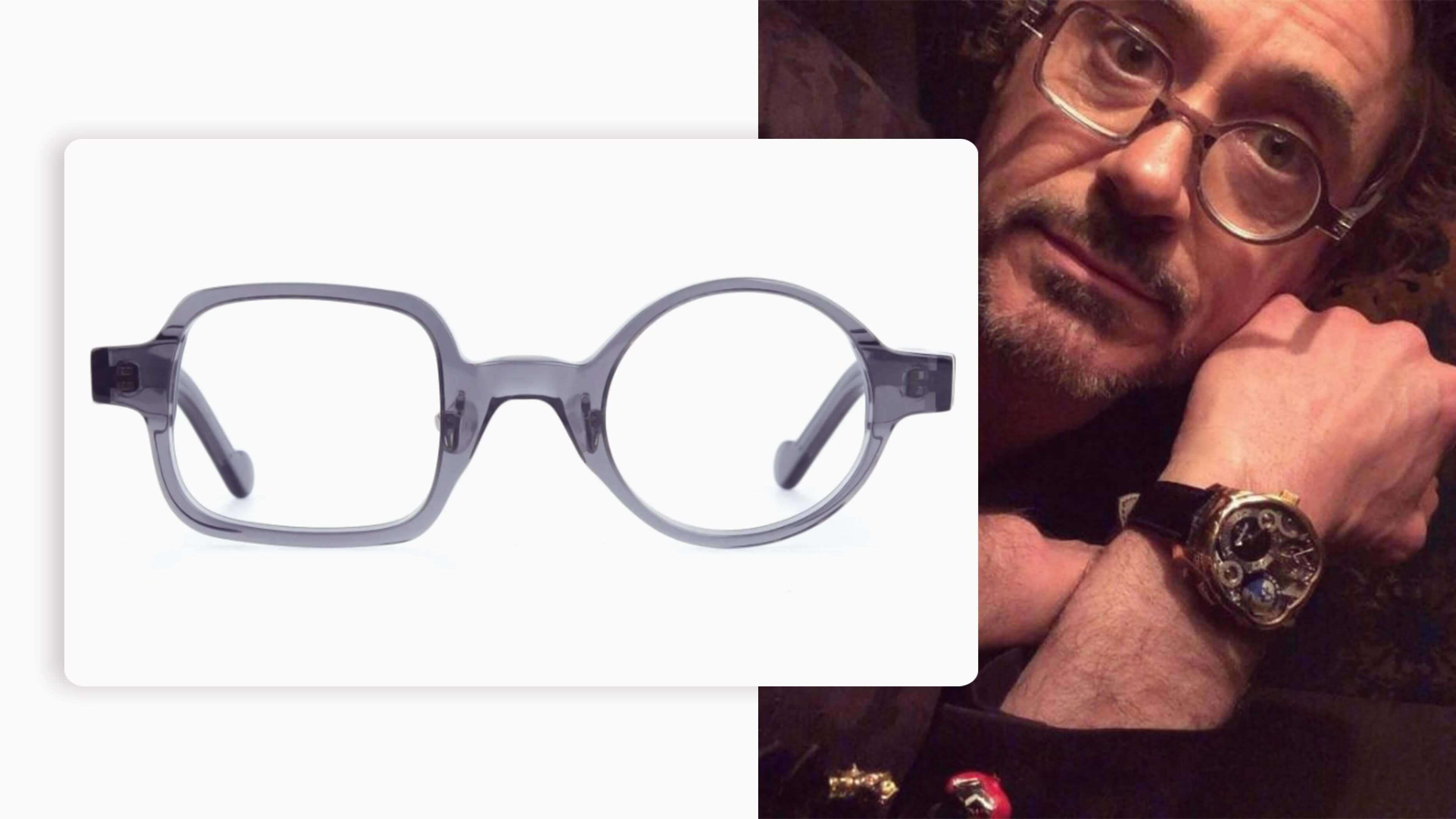 downey stark one round and square glasses