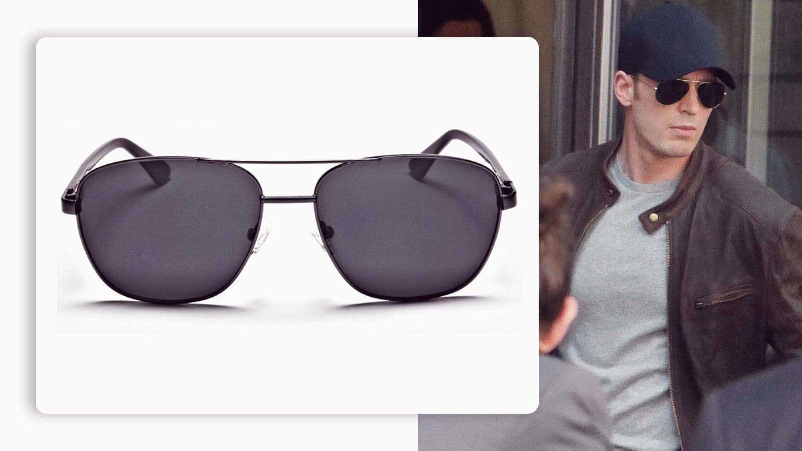 mario gunmetal sunglasses