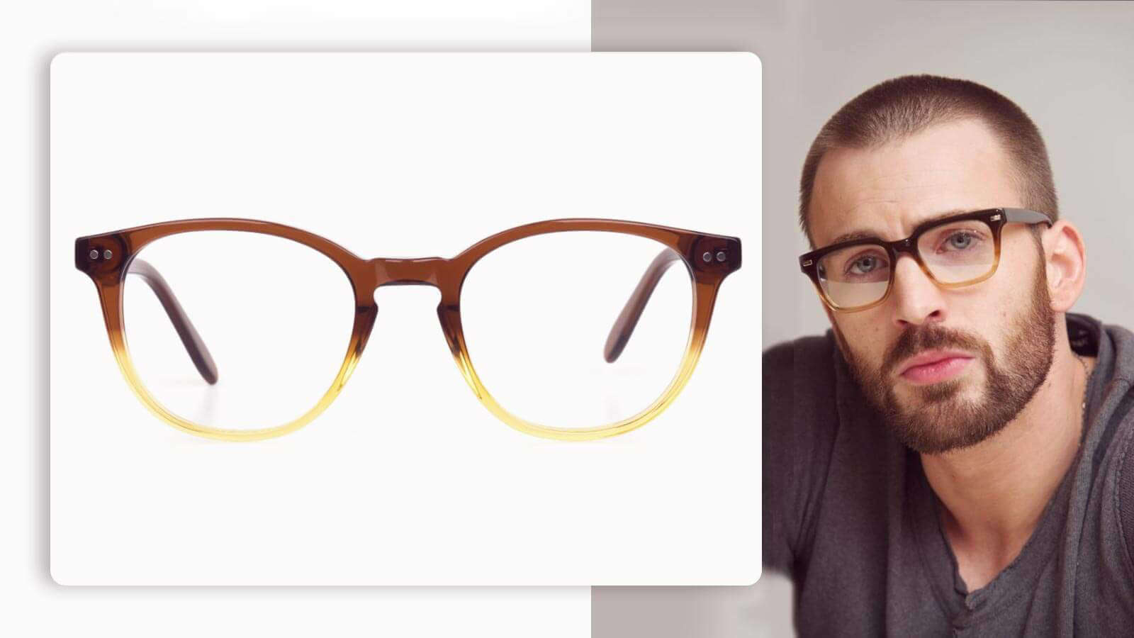 two tone glasses in crystal brown