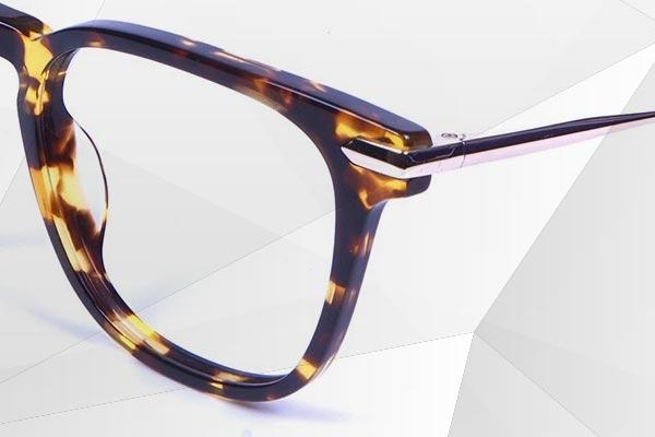 Wayfarers Mixed Material Glasses