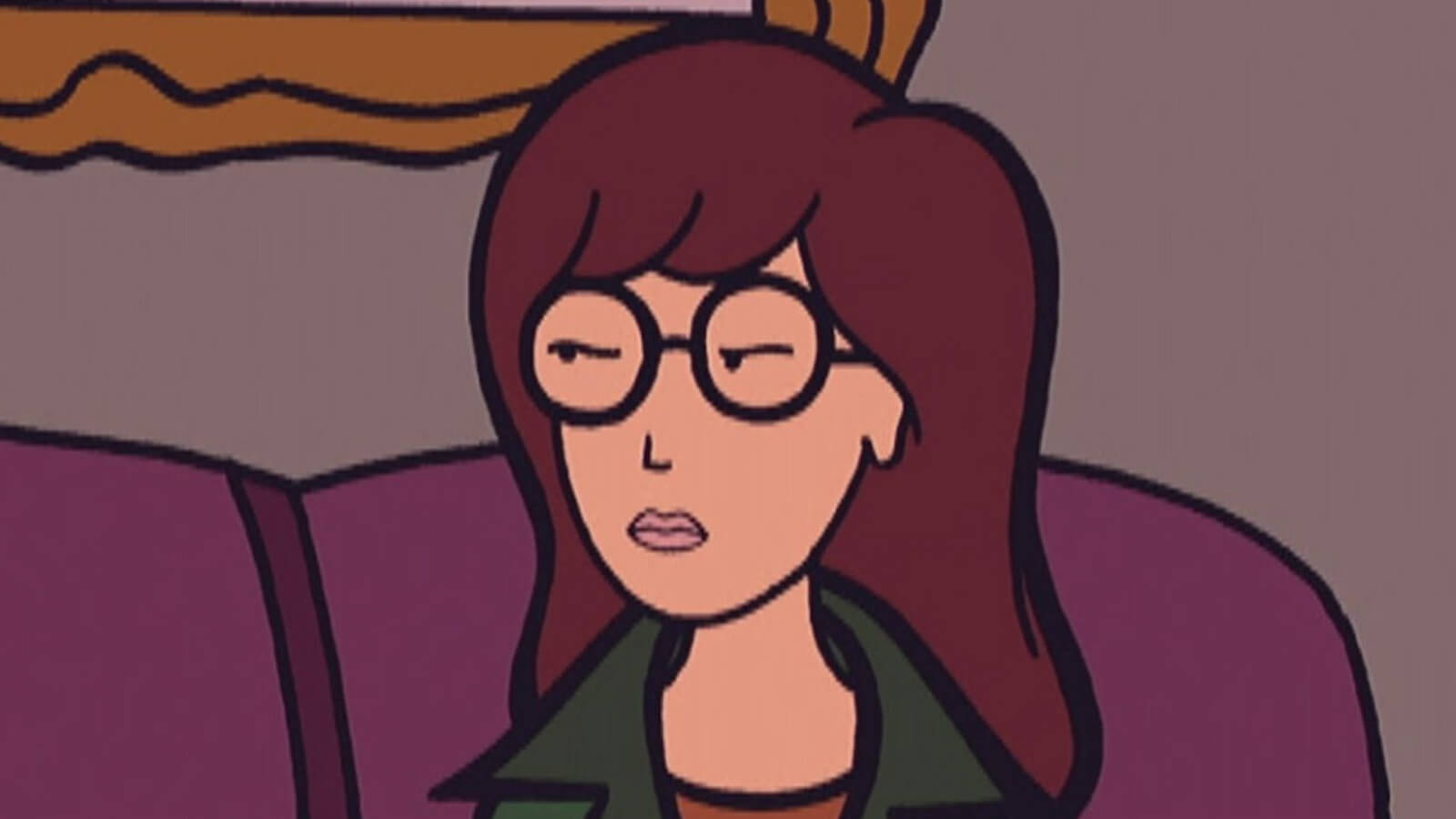 Daria Morgendorffer from Beavis and Butt-head cartoon characters with glasses