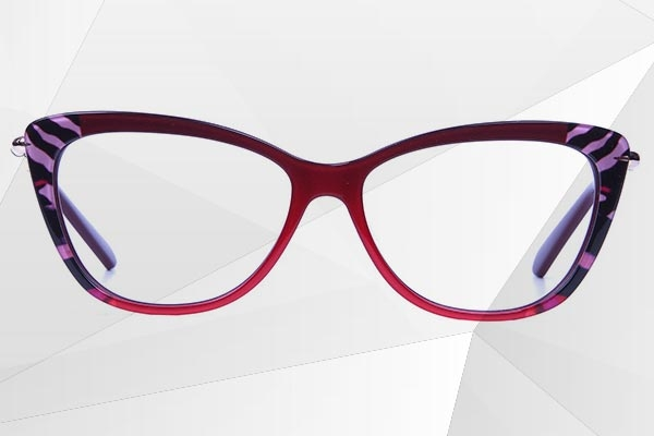 Cat-eye Mixed Material Glasses