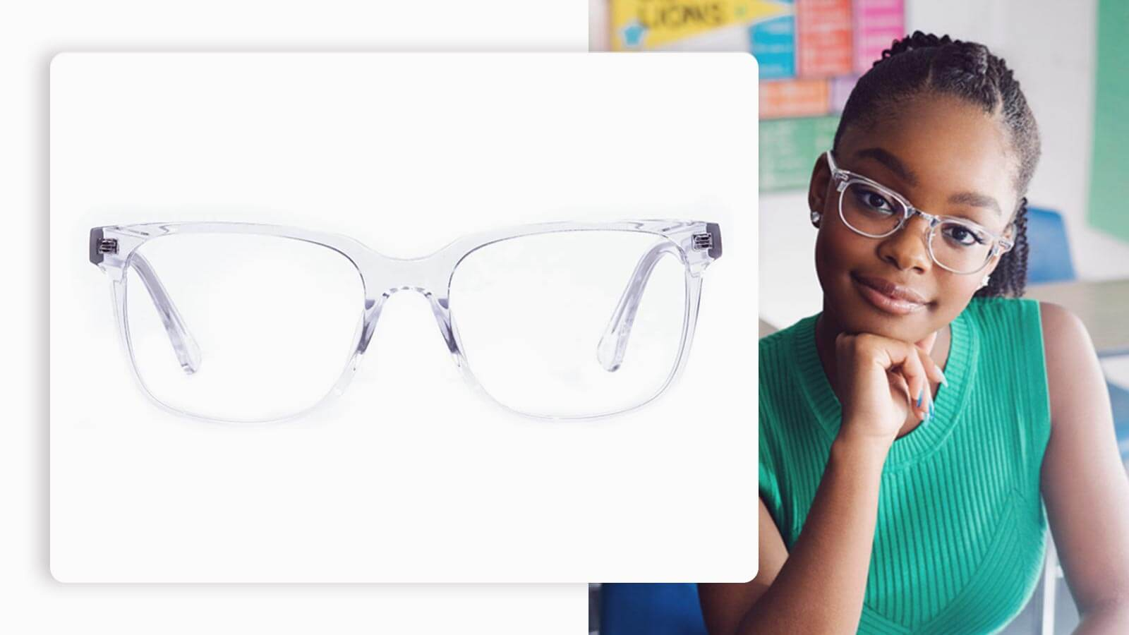 Clear Framed Glasses in Wayfarer