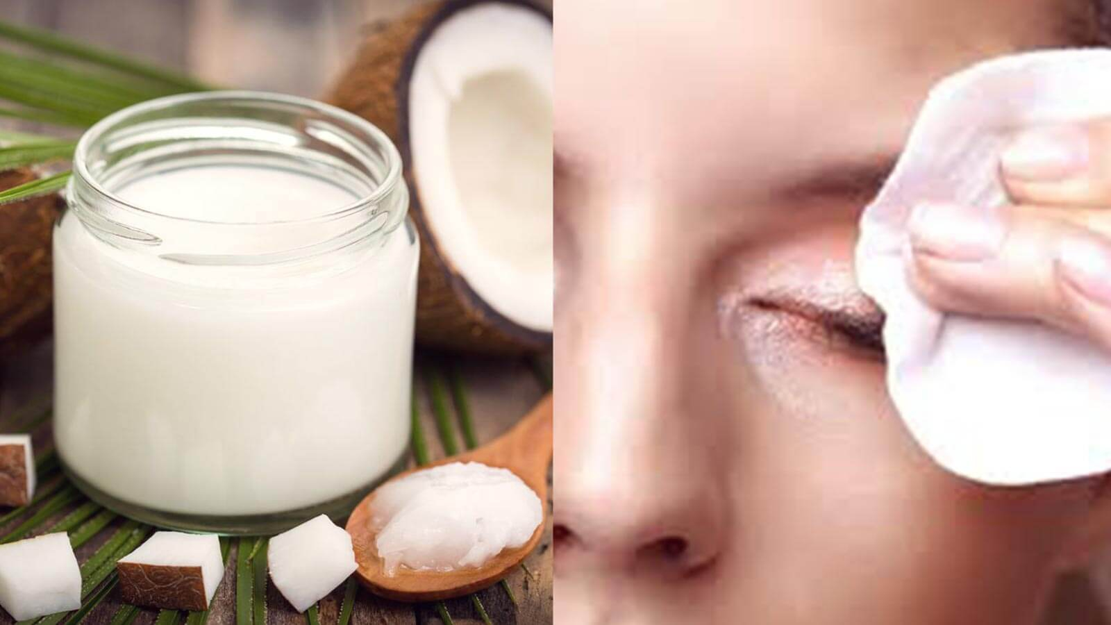 remove eye makeup with coconut oil