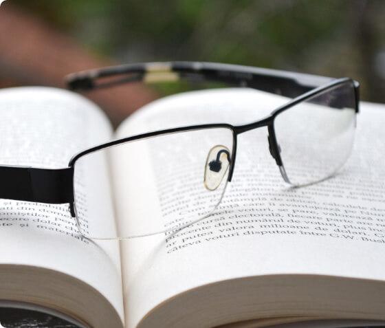 Half-rim glasses