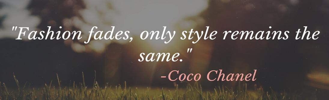 Chanel's Fashion Quote
