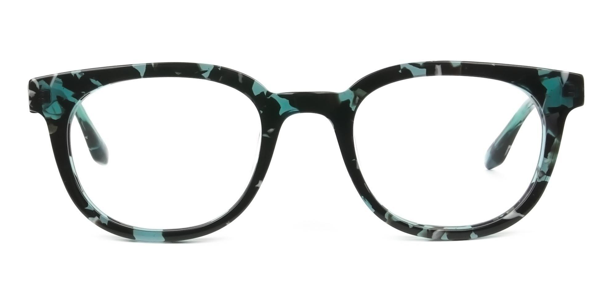 Tortoise Turquoise Green Glasses