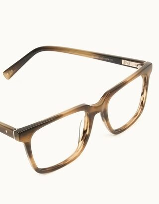 Handcrafted Stripe Brown Thick Acetate Glasses