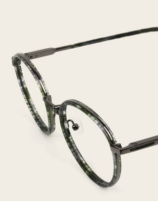Round huntergreen tortoise gunmetal glasses