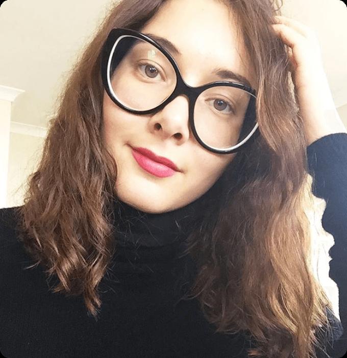 Oversized Cateye Glasses