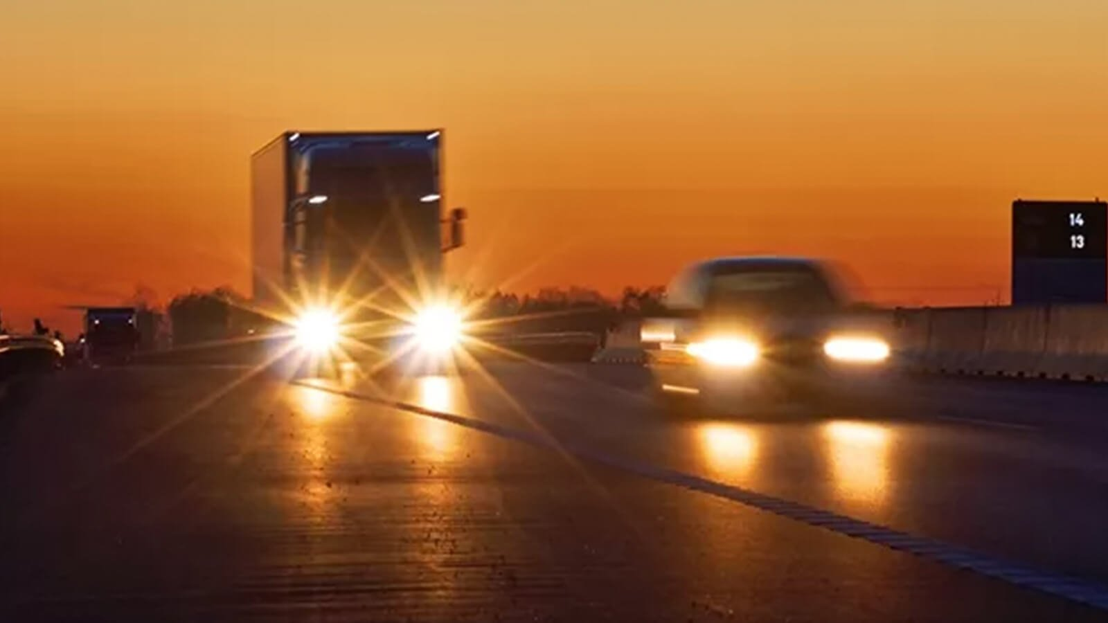 How does glare hit you while driving?