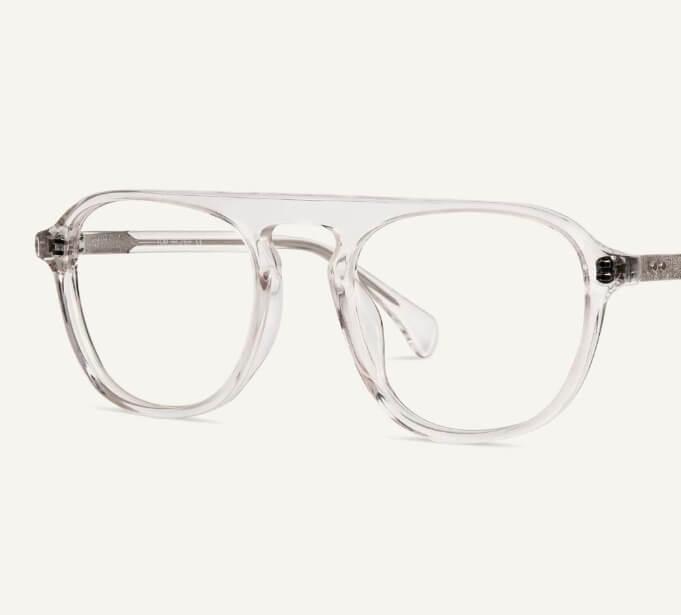 Transparent Aviator Glasses