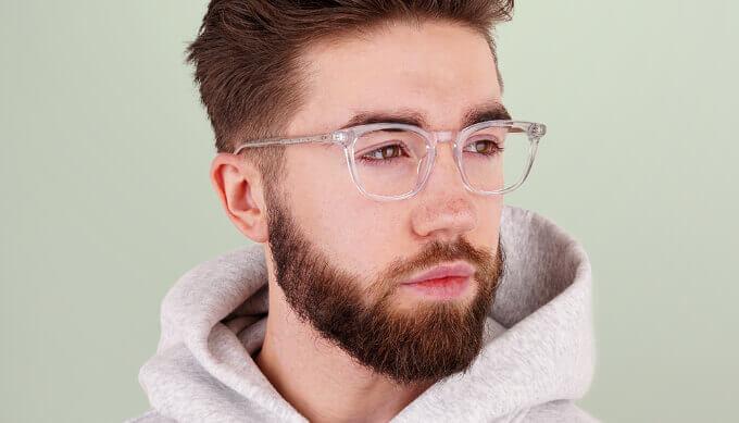 Transparent Wayfarer Glasses
