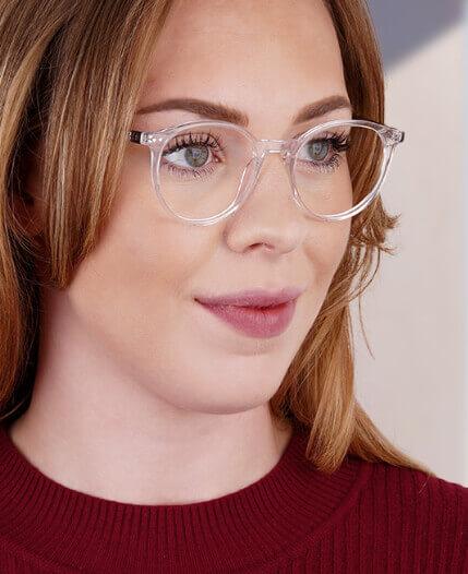 Transparent Round Glasses For Women