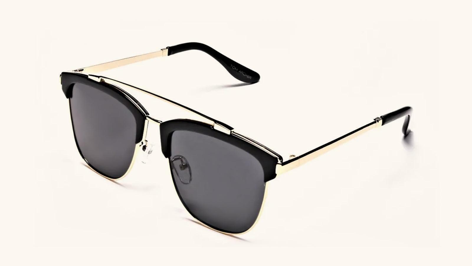 Browline aviator sunglasses for travel