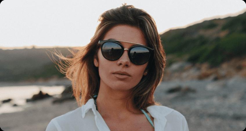 Black Aviator Sunglasses style