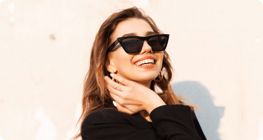 Black Cat eye Sunglasses style