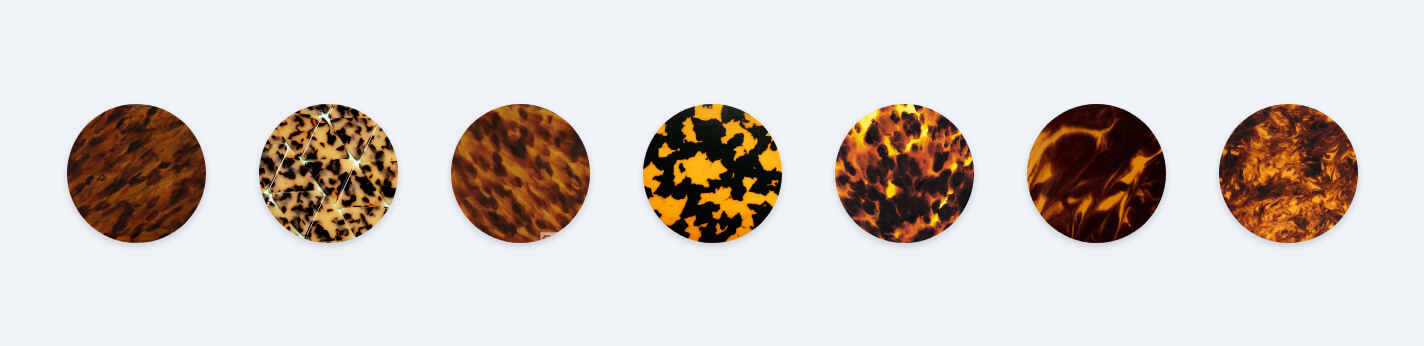 Colors Available in Tortoiseshell