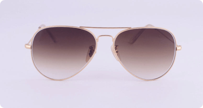 Double Bridge Sunglasses gradient tinted