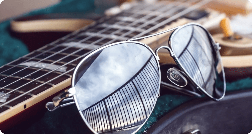 Double Bridge Sunglasses reflected coating