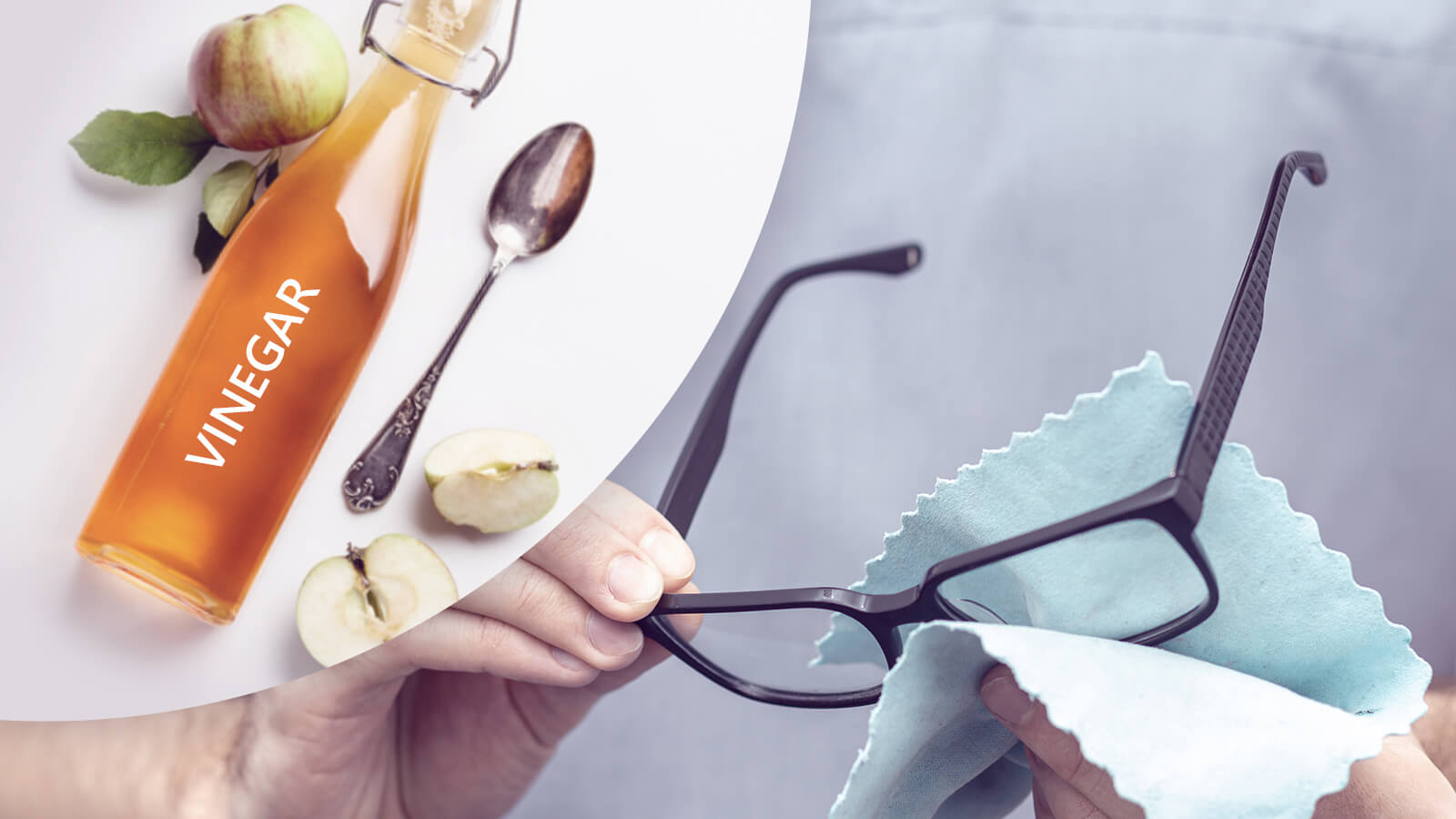 How to clean glasses with vinegar